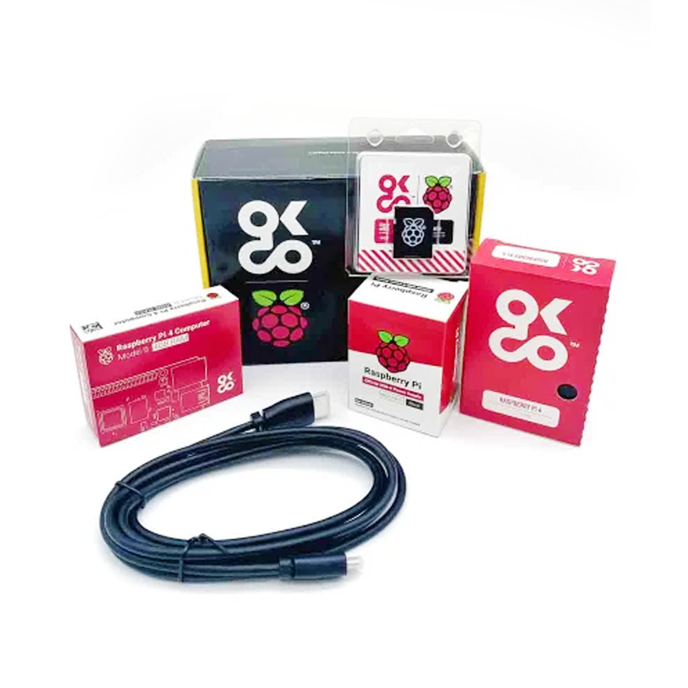 OKdo Raspberry Pi 4 4GB Basic Kit with US Power Supply